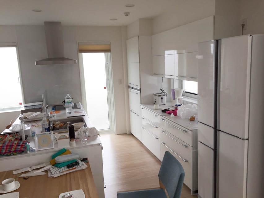 実際のキッチンのスペース