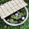 メダカの鉢の温度調整&蒸発防止のスノコ