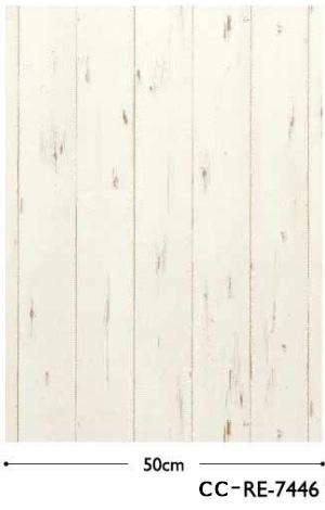 サンゲツ 西海岸風ホワイトウッドのシャービックな壁紙(ロンハーマン、ダブルティー風)CC-RE7446-2
