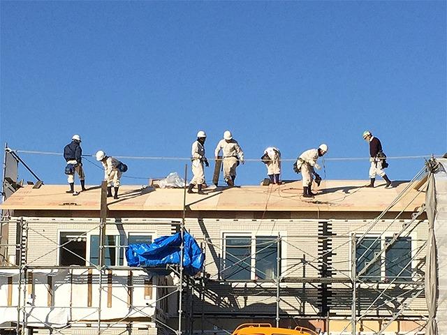 上棟:2階の屋根