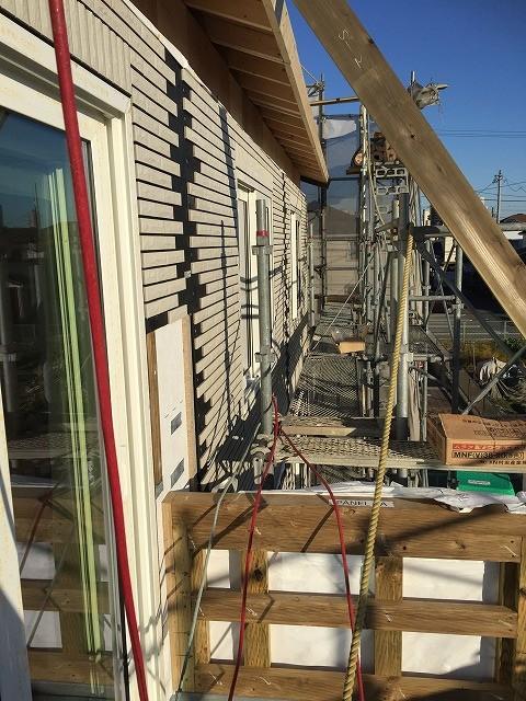 上棟:2階の壁と屋根