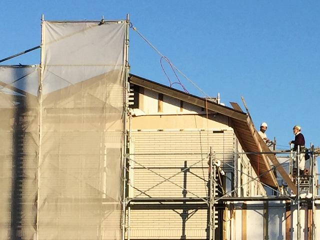 上棟:切妻屋根