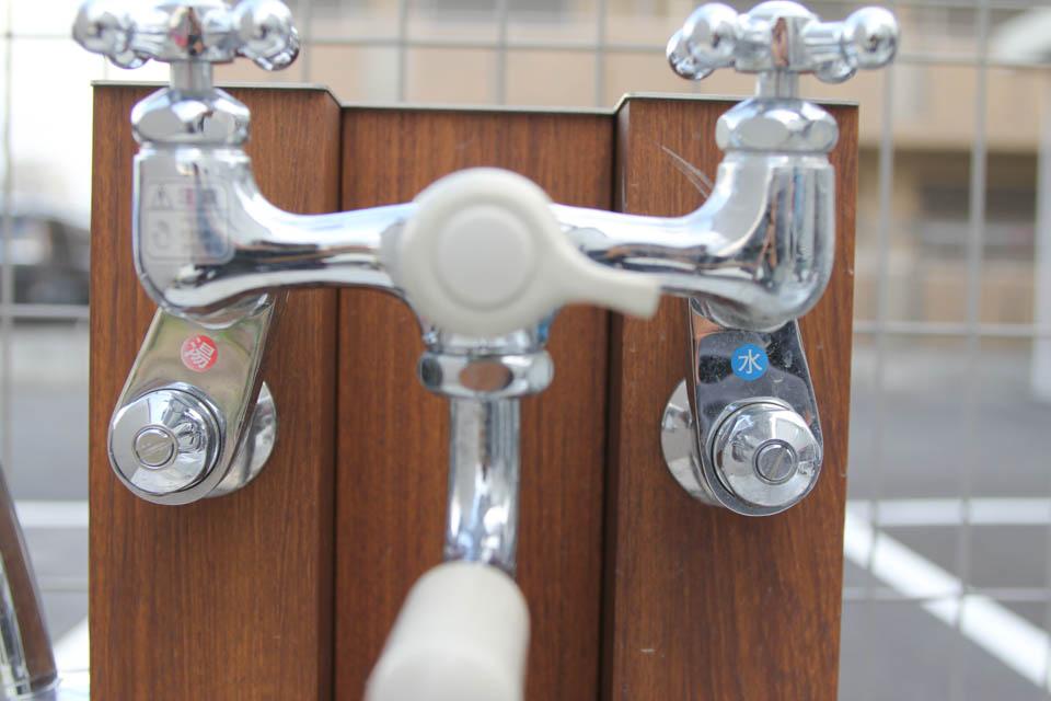 立水栓に混合栓