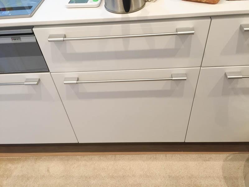 キッチンカウンター下の引き出しにゴミ箱を設置したい