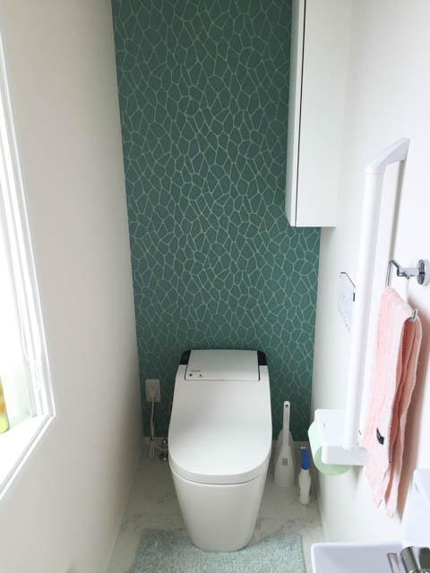 1階のトイレの壁紙