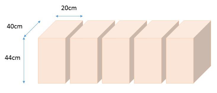 一条工務店の床下パントリーのサイズ5つ分